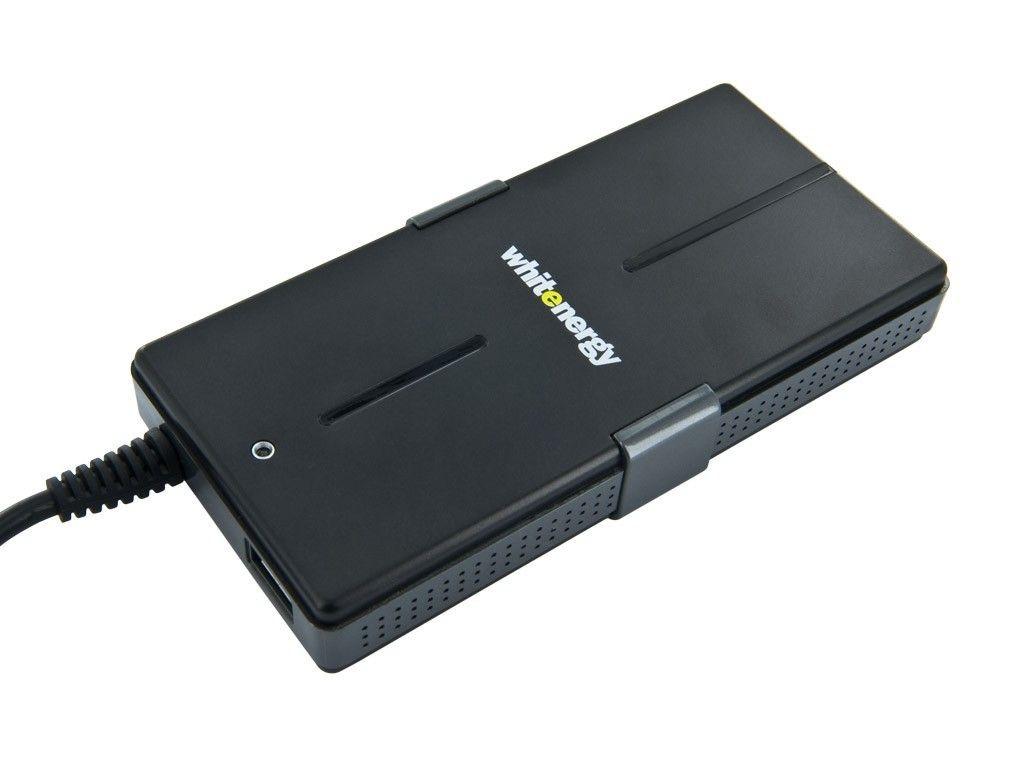 Whitenergy uniwerslany zasilacz sieciowy Super Slim do netbooka 90W, USB