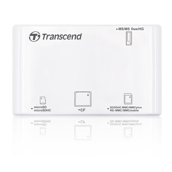 Transcend USB2.0 Multi Card Reader/Writer WHITE