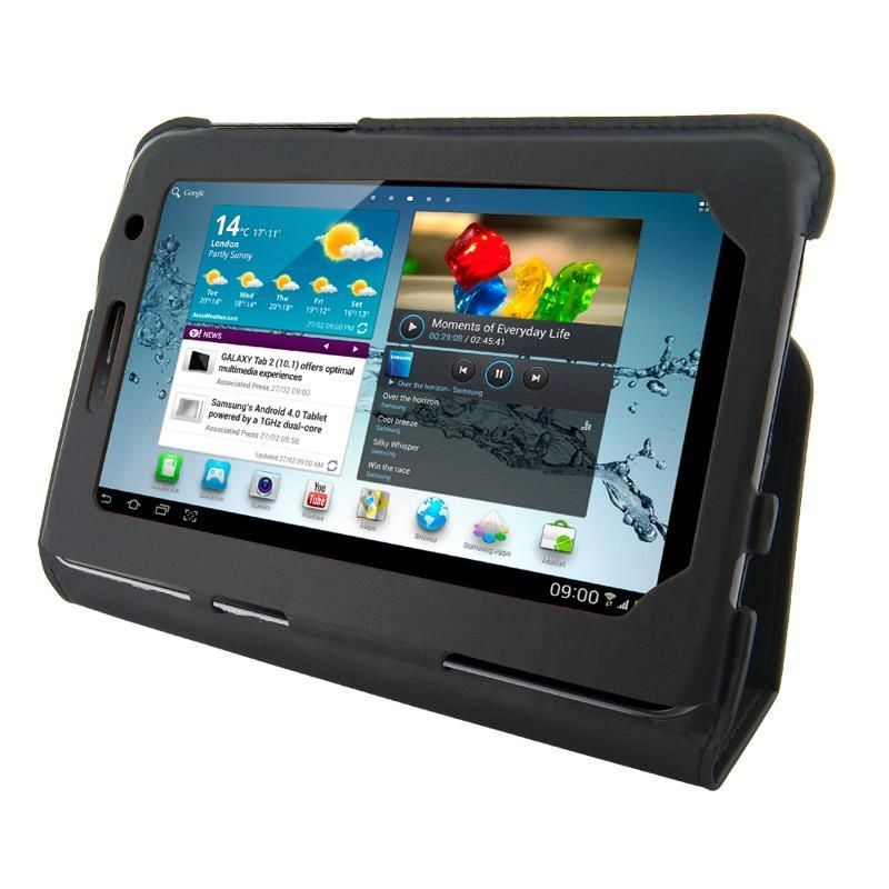 4World Etui - stand dla Galaxy Tab 2, Ultra Slim, 7'', czarne