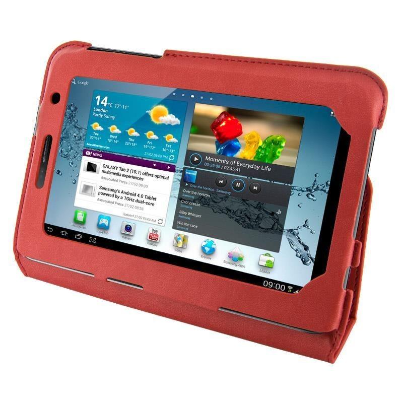 4World Etui - stand dla Galaxy Tab 2, Ultra Slim, 7'', czerwony