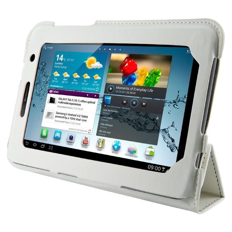 4World Etui - stand dla Galaxy Tab 2, 4-Fold Slim, 7'', białe