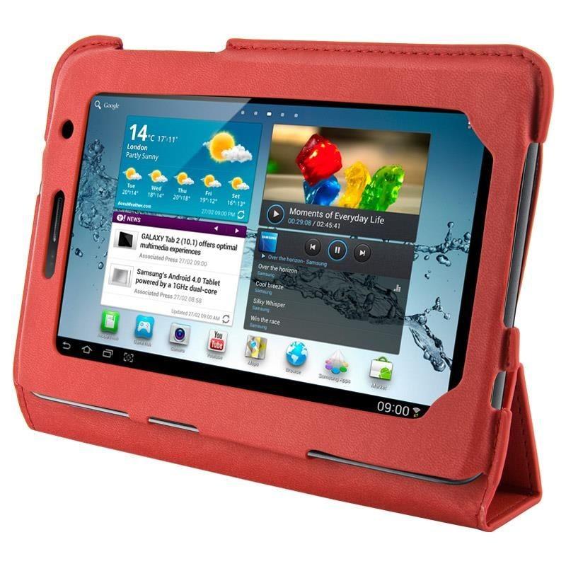 4World Etui - stand dla Galaxy Tab 2, 4-Fold Slim, 7'', czerwony