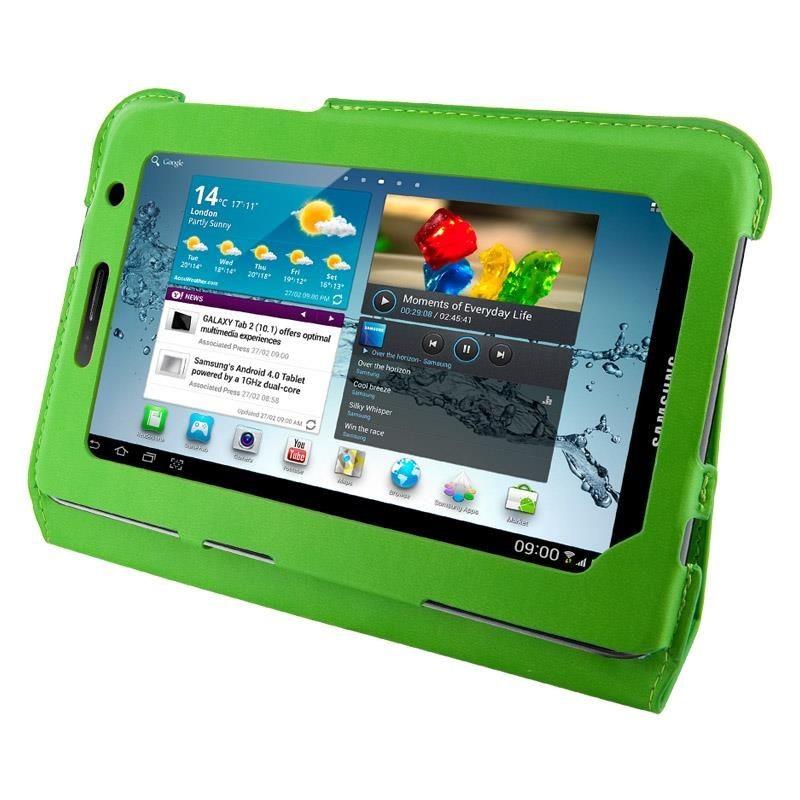 4World Etui - stand dla Galaxy Tab 2, Ultra Slim, 7'', zielone