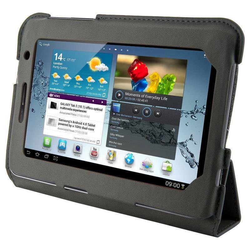 4World Etui - stand dla Galaxy Tab 2, 4-Fold Slim, 7'', szare