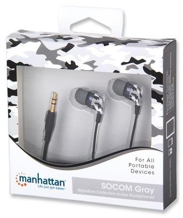 Manhattan Słuchawki douszne Stereo - SOCOM Gray
