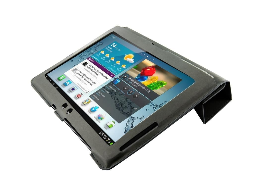 4World Etui - stand dla Galaxy Tab 2, 4-Fold Slim, 10'', szare