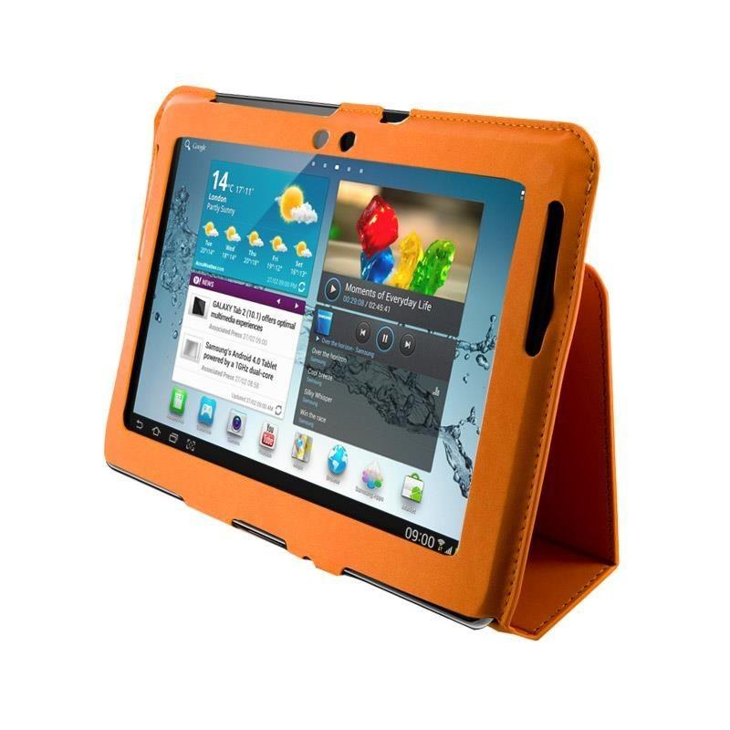 4World Etui - stand dla Galaxy Tab 2, Ultra Slim, 10'', pomarańczowe