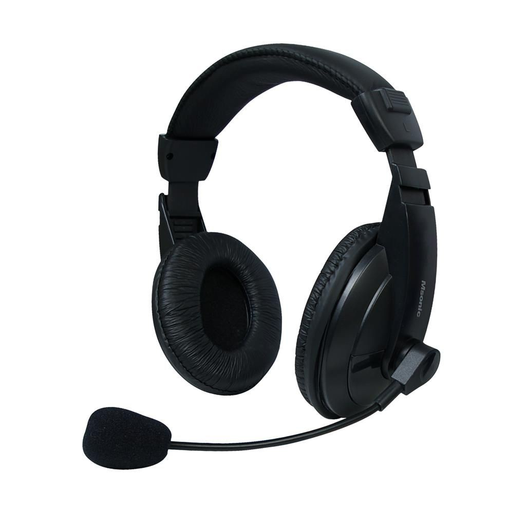 Vakoss MSONIC Słuchawki stereo z mikrofonem nauszne, kontrola głośności