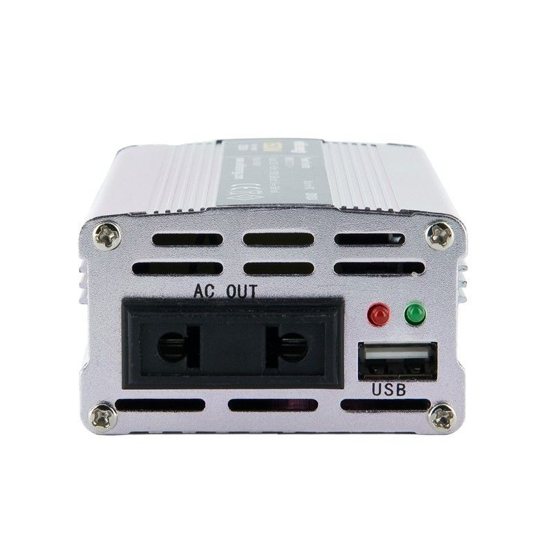 Whitenergy Przetwornica AC/DC 12V (samochód) na 230V, 150W mocy złącze USB, mini