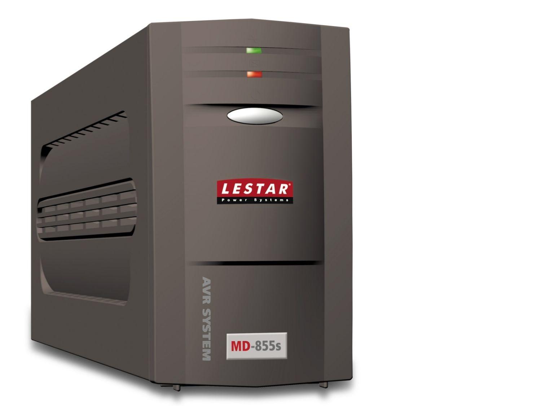 Lestar UPS MD-855S 800VA/480W AVR 1xSCH + 1xIEC USB RJ11 BL