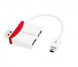 LogiLink - 2-portowy HUB USB2.0 z kablem Mini USB