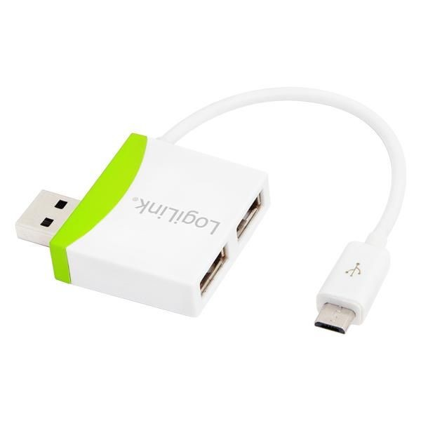 LogiLink - USB 2.0 Hub 2-Port with USB Micro Cable