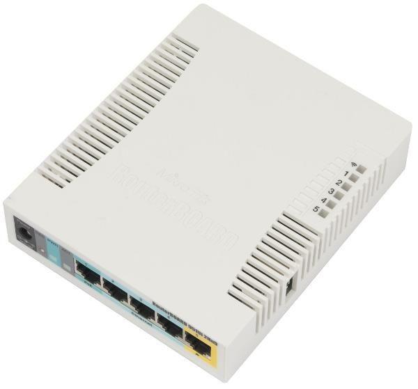MikroTik RB951Ui-2HnD RouterOS L4 128MB RAM, 5xLAN, 1xUSB, 2.4GHz 802.11b/g/n