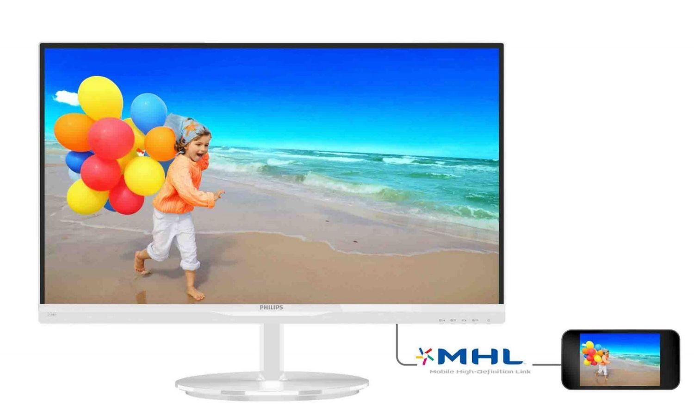 Philips Monitor 234E5QHAW/00; 23, panel AH-IPS; 2xHDMI; głośniki; biały