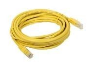 A-LAN Patchcord UTP kat 5e 1.0m żółty