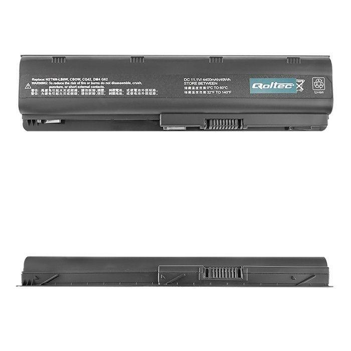 Qoltec Bateria do laptopa Long Life - HP/Compaq CQ62, 10.8-11.1 V | 4400 mAh