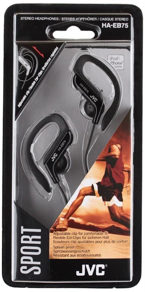JVC Słuchawki sportowe HA-EB75-B membrana neodymowa 13.5mm, regulacja w 5 zakresach
