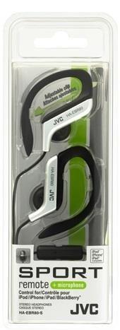JVC Słuchawki sportowe HA-EBR80-S membrana neodymowa 13.5mm, Pilot&mic