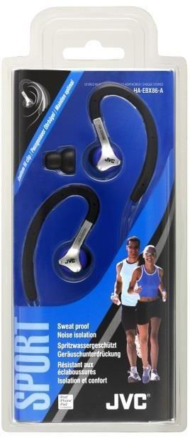 JVC Słuchawki sportowe HA-EBX86-A, membrana neodymowa 11mm, wilgocioodporne