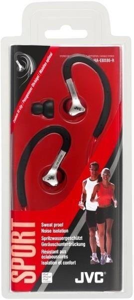 JVC Słuchawki sportowe HA-EBX86-R, membrana neodymowa 11mm, wilgocioodporne