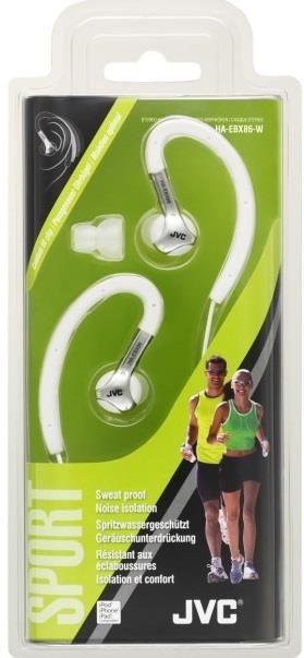 JVC Słuchawki sportowe HA-EBX86-W, membrana neodymowa 11mm, wilgocioodporne