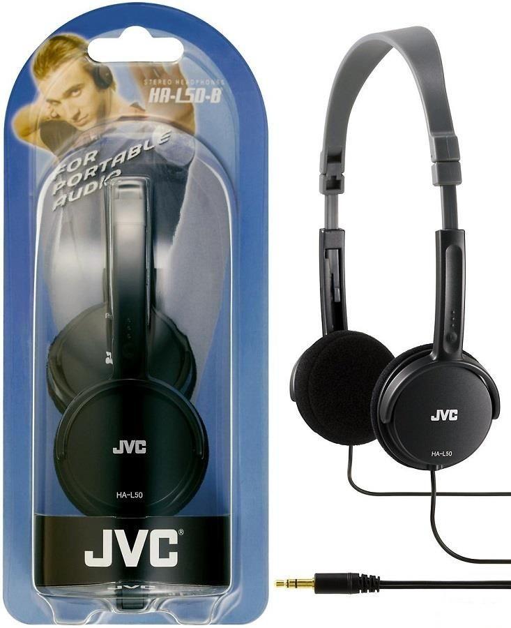 JVC Słuchawki nauszne HA-L50-B, membrana 30mm