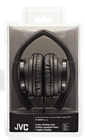 JVC Słuchawki nauszne HA-S200-B