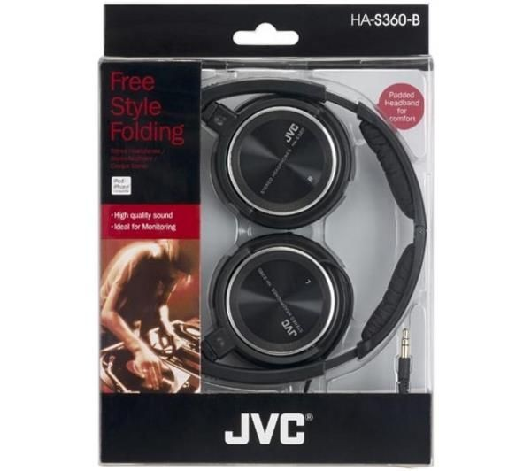 JVC Słuchawki nauszne HA-S360-B*