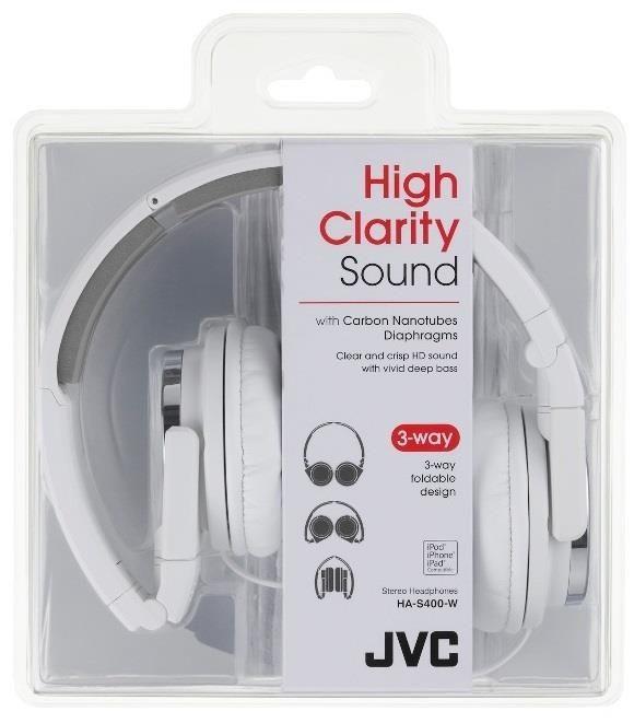 JVC Słuchawki nauszne HA-S400-W*