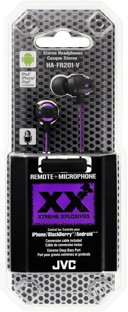 JVC Słuchawki HA-FR201-V* Xtreme, membrana neodymowa 8.5mm, S/M/L, Pilot & mic