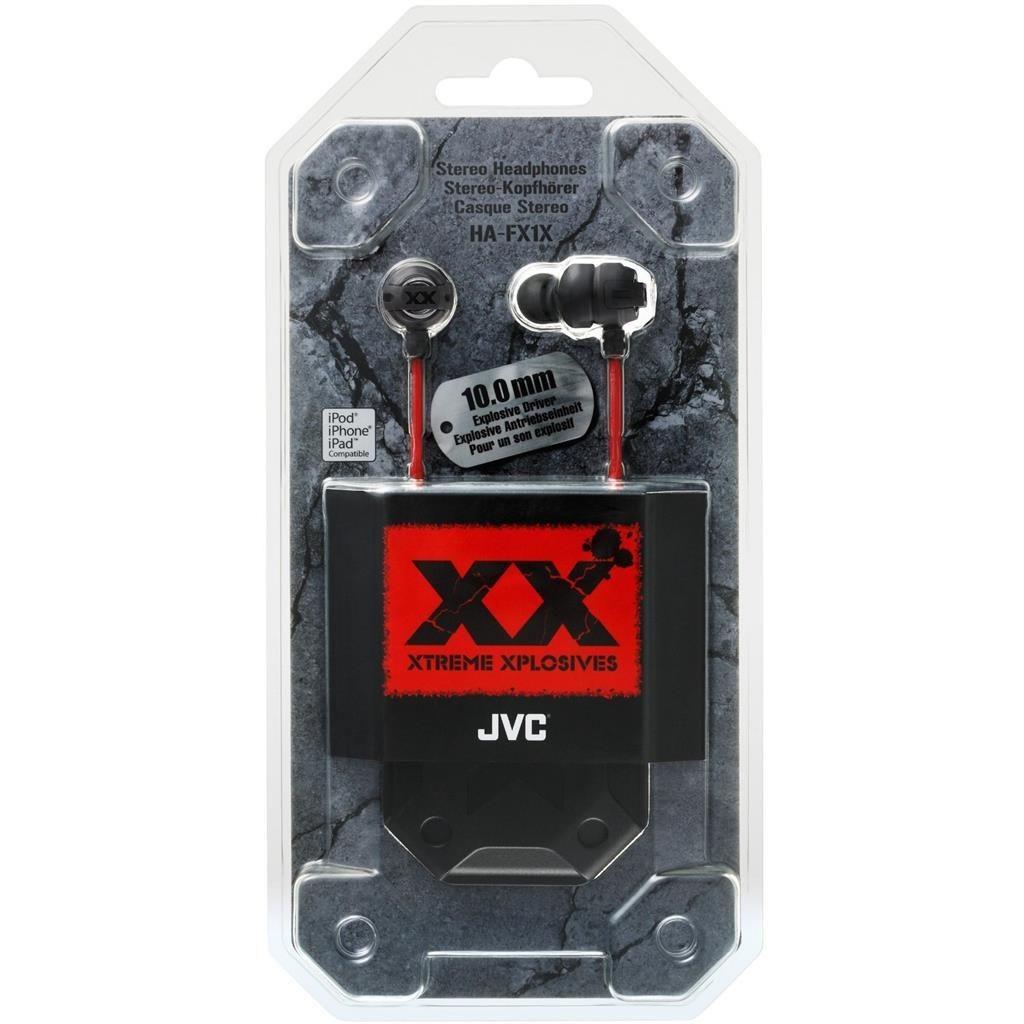 JVC Słuchawki HA-FX1X* Douszne, mocne, dynamiczne, głębokie basy