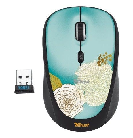 Trust Yvi Wireless Mouse - flower