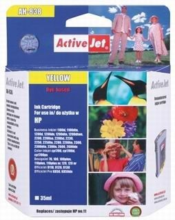 ActiveJet Tusz ActiveJet AH-11YR | Yellow | 35 ml | Regenerowany | HP C4838A HP 11