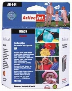 ActiveJet Tusz ActiveJet AH-10BR | Black | 80 ml | Regenerowany | HP C4844A HP 10