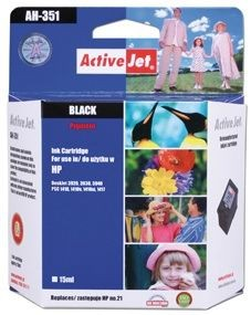 ActiveJet Tusz ActiveJet AH-21RX | Black | 20 ml | Regenerowany | HP C9351A HP 21XL