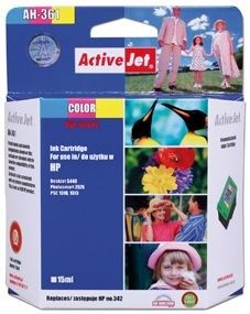 ActiveJet Tusz ActiveJet AH-342R | Color | 15 ml | Regenerowany | HP C9361EE HP 342