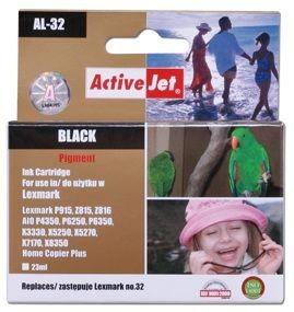 ActiveJet Tusz ActiveJet AL-32R | Black | 23 ml | Regenerowany | Lexmark 18C0032E