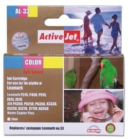 ActiveJet Tusz ActiveJet AL-33 | Color | 20 ml | Regenerowany | Lexmark 18C0033E