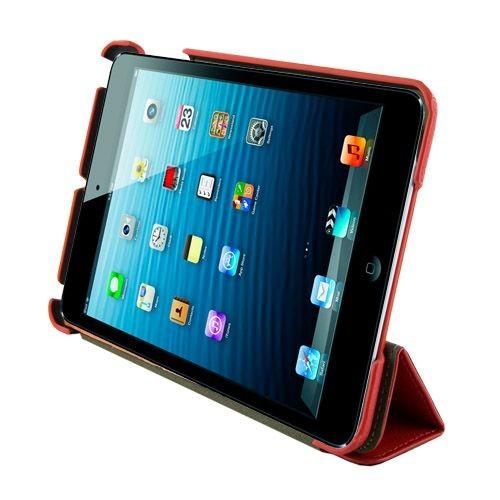 4World Etui ochronne/Podstawka do iPad Mini Back Fold, ECO skóra, 7, czerwone