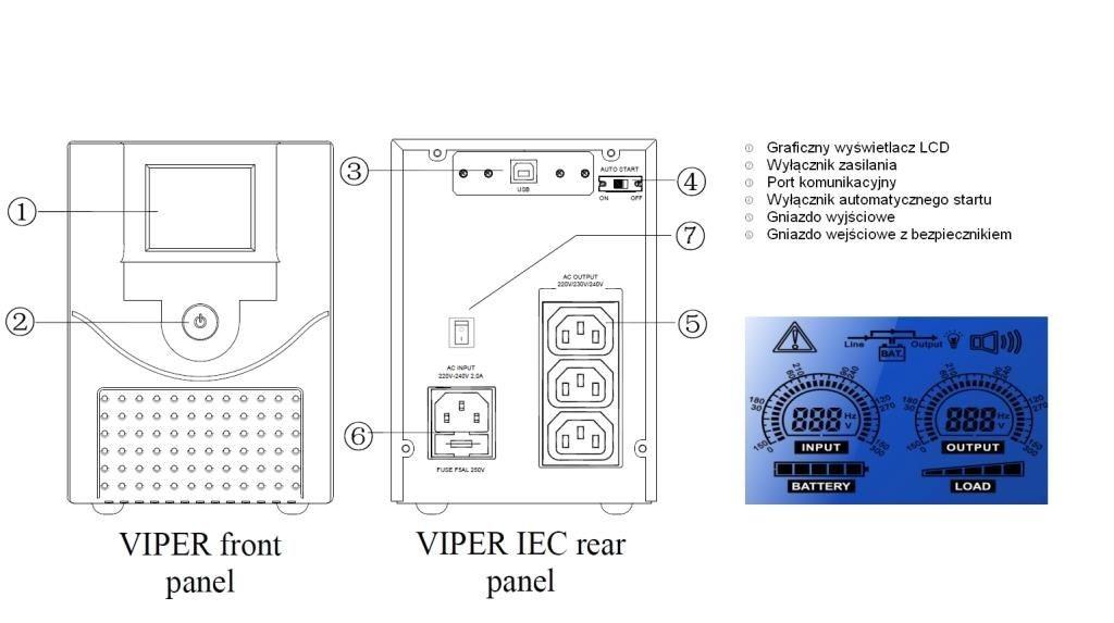 Fideltronik Zasilacz awaryjny Viper 700 IKEL-V700