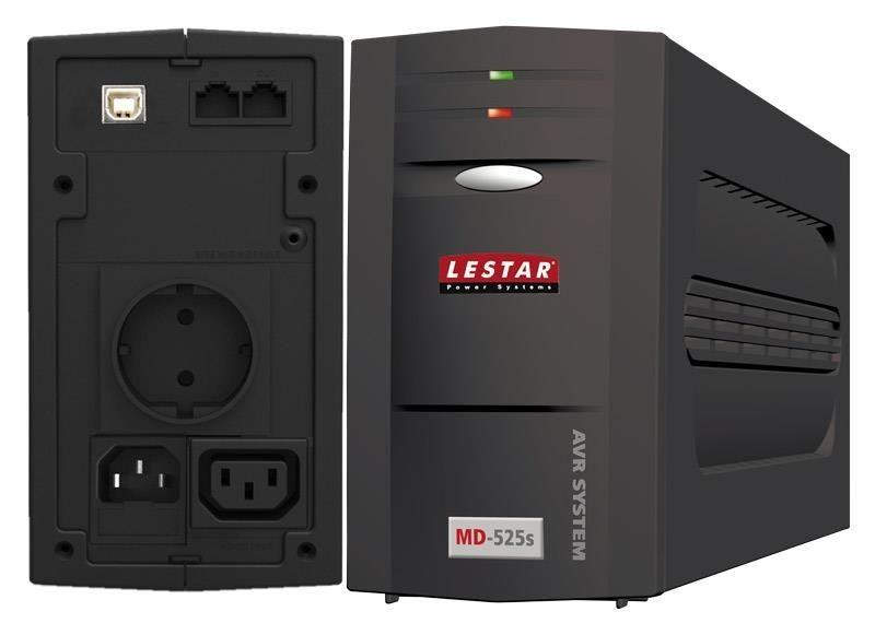 Lestar UPS MD-525s L-INT 300W AVR 1xSCH 1xIEC USB RJ LED BL