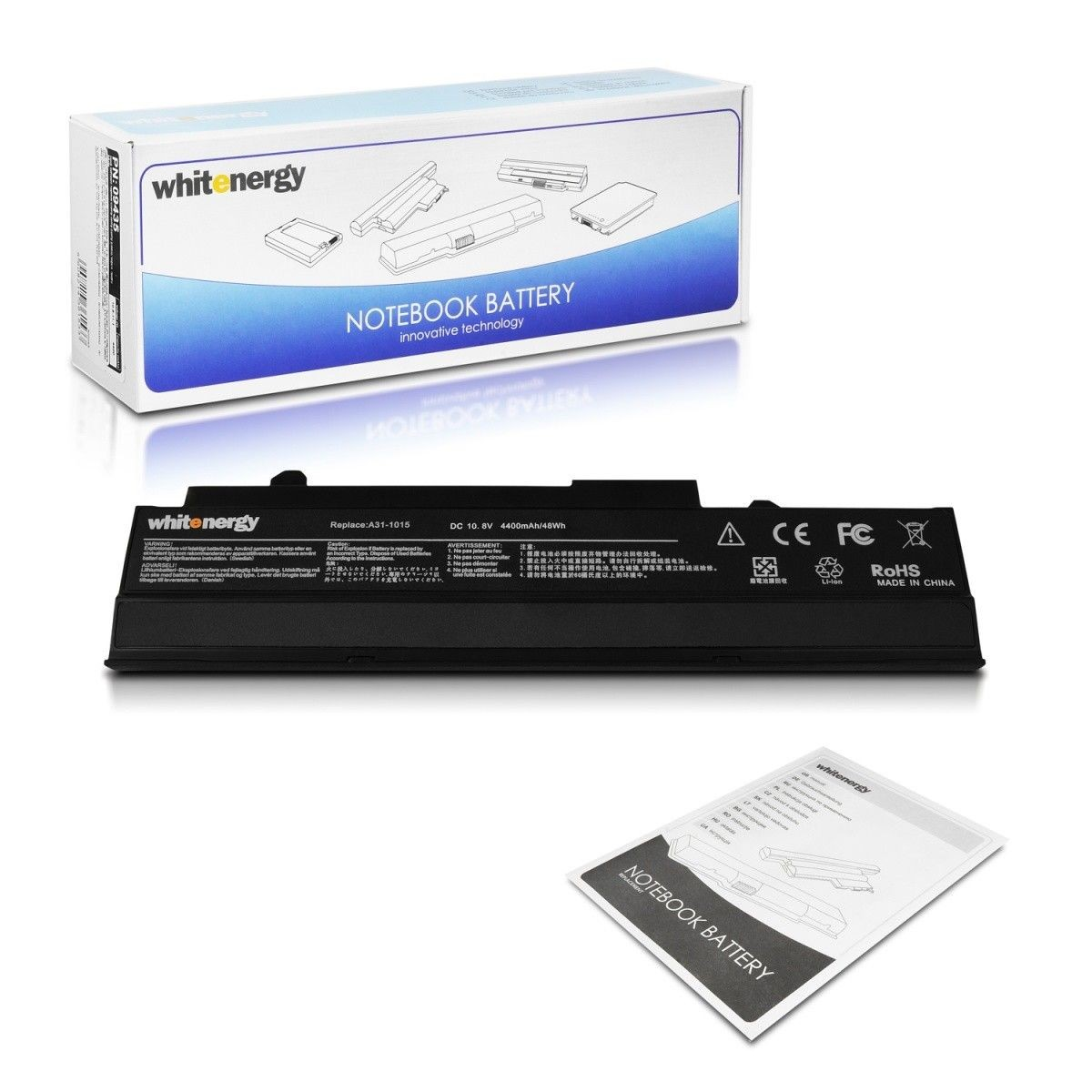 Whitenergy bateria do laptopa Asus EEE PC 1215B 10.8V Li-Ion 4400mAh