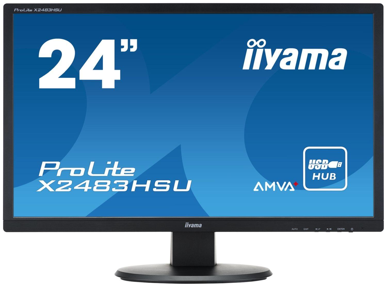iiyama MONITOR 24'' X2483HSU-B1 AMVA+ HDMI/DVI/USB/GLOS /IIYAMA