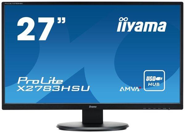 iiyama MONITOR 27'' X2783HSU-B1 AMVA+ HDMI/DVI/USB/GLOŚNIKI /IIYAMA