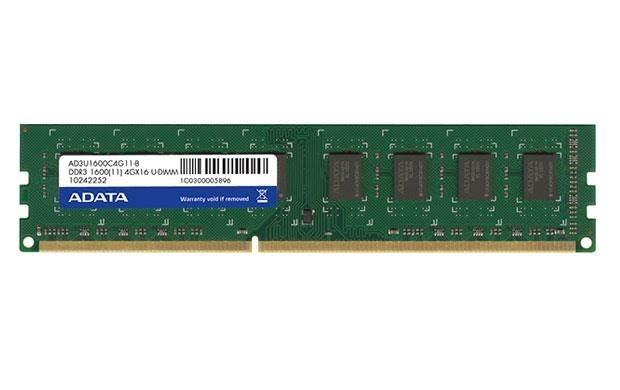 A-Data Adata 2x4GB 1600MHz DDR3 CL11 DIMM 1.5 V