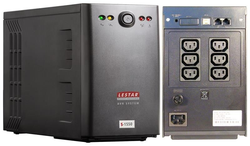 Lestar UPS L-INT S-1550 900W AVR 6xIEC USB RJ LED BL