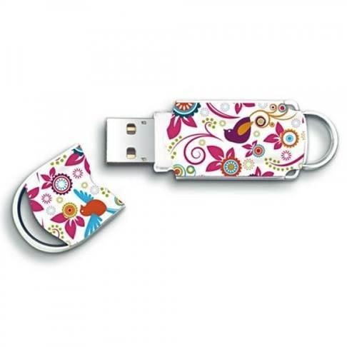 Integral pamięć USB Xpression 8GB, bird & flower pattern