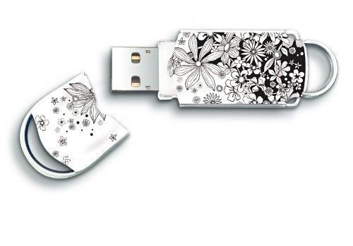 Integral pamięć USB Xpression 8GB, black & white flower pattern