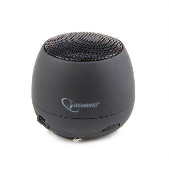 Gembird przenośny głośnik z wbudowaną baterią (MP3, telefon GSM, laptop) czarny