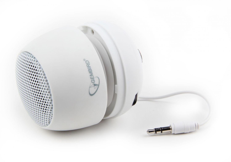 Gembird przenośny głośnik z wbudowaną baterią (MP3, telefon GSM, laptop) biały